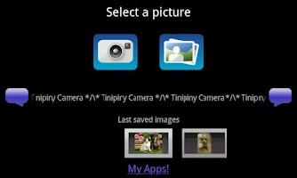 Screenshot of Tinipiny Camera (text bubbles)