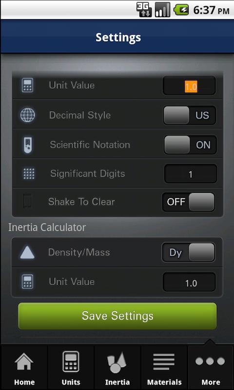 EngineersCALC Calculator FREE- screenshot