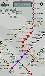 Singapore MRT Route- screenshot thumbnail