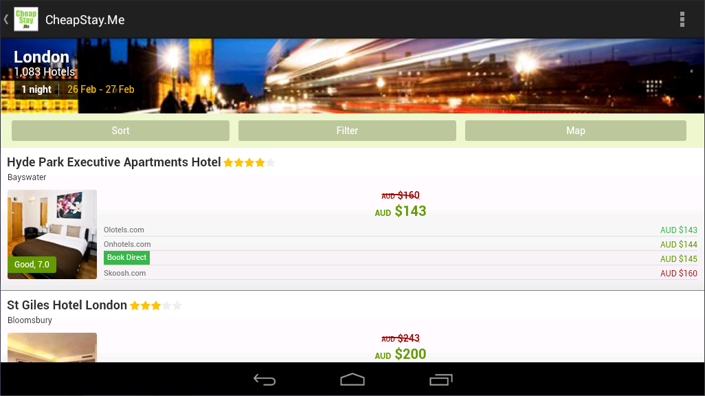 Cheap Stay: Find Hotel Deals - screenshot