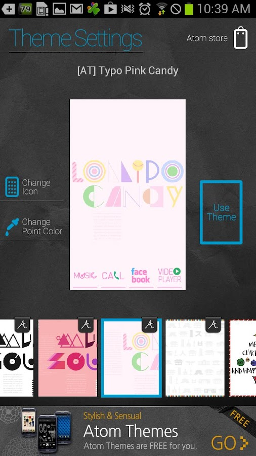 Typo Pink2 atom theme - screenshot