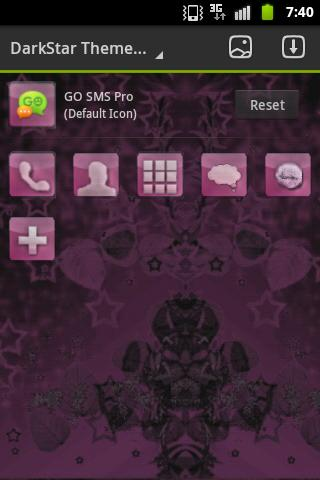 GO Launcher EX Theme Pink Dark - screenshot