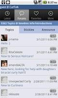Screenshot of NaturallyCurly.com's CurlTalk