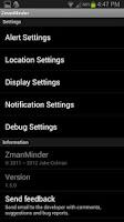 Screenshot of ZmanMinder Widget