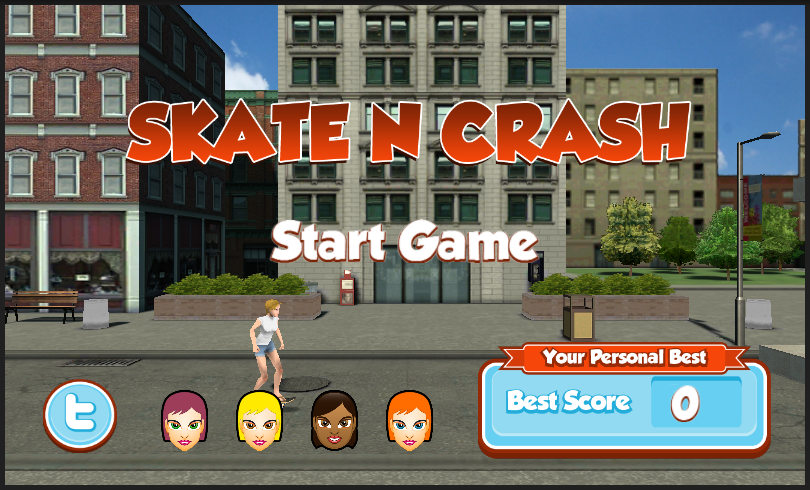 Skate N Crash- screenshot