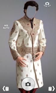 Sherwani suit photo montage screenshot