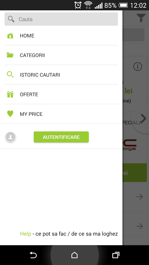 price.ro - screenshot