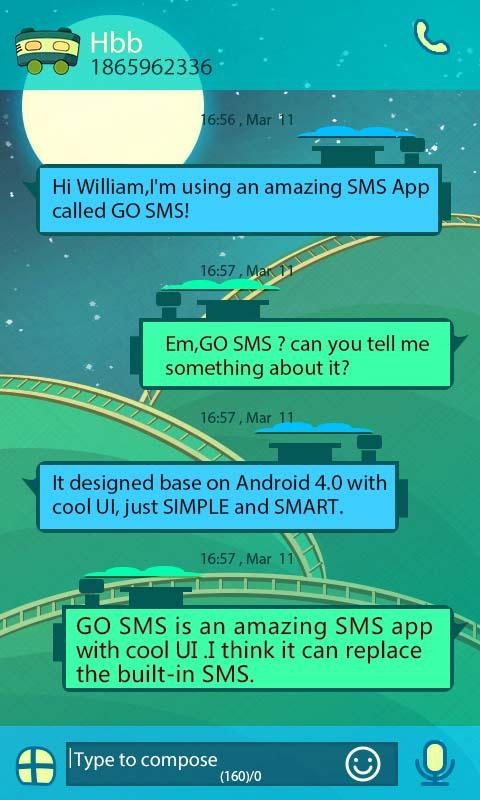 GO SMS PRO TRAIN THEME EX-KP- screenshot
