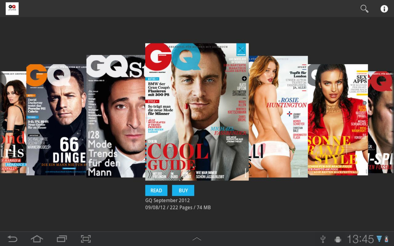 GQ DE ePaper - screenshot