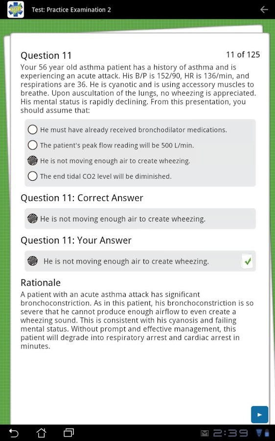 Critical Care Paramedic Review- screenshot