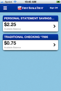 First Bank&Trust Smart Banking - screenshot thumbnail