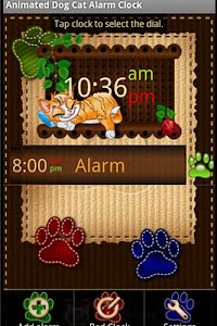Cat Dog Alarm Clock Widget v1.5