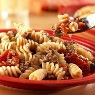 Beef and Pasta.