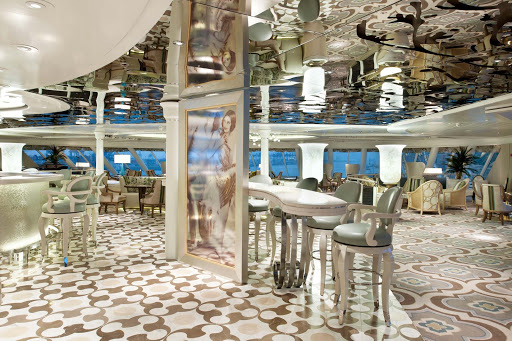 Enrichment-Entertainment-Palm-Court-on-Crystal-Symphony - Visit the Palm Court on Crystal Symphony for bright conversation and well-crafted drinks.