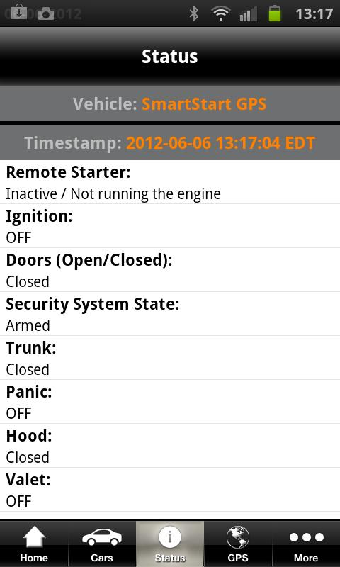 Viper SmartStart- screenshot
