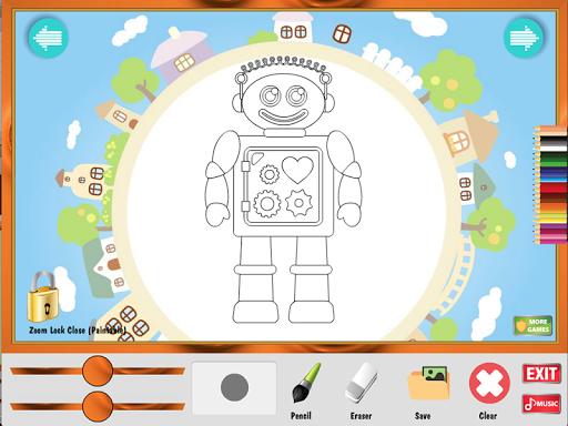 著色遊戲:機器人