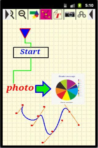 図形や曲線 写真などをレイアウトして図面を作成するアプリ