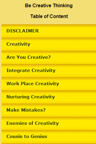 Be Creative Thinking