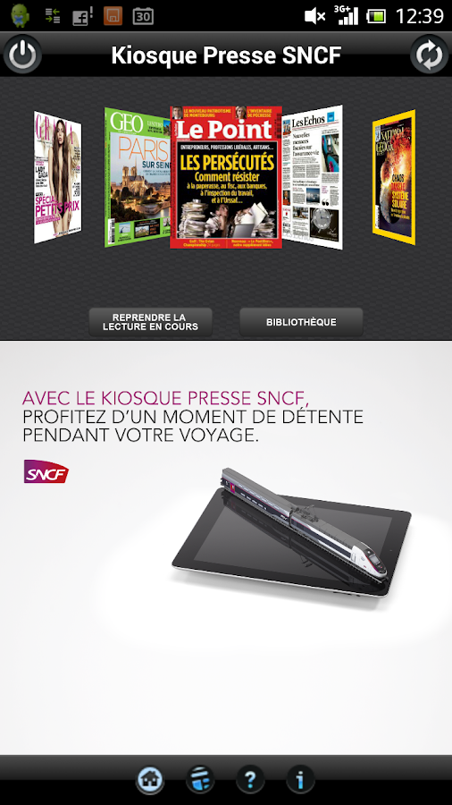 Kiosque Presse SNCF - screenshot