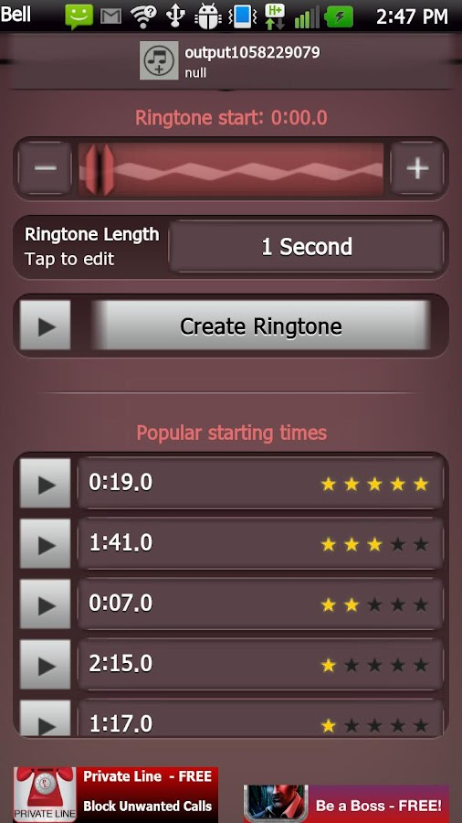 Ultimate Ringtone Maker - screenshot