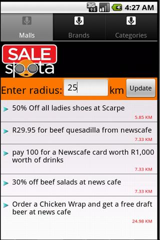 SALEspota- screenshot