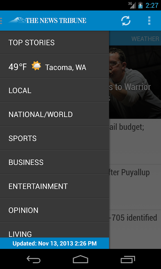 Tacoma News Tribune Newspaper - screenshot