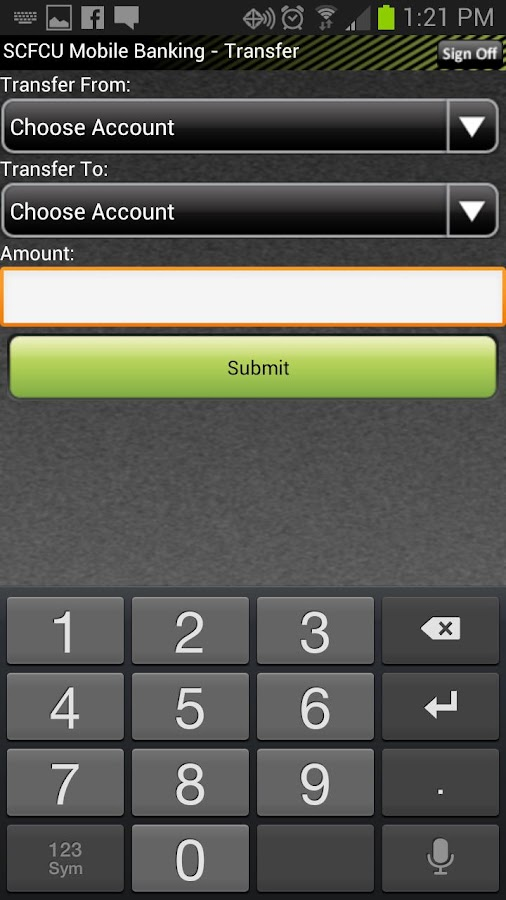 Sussex CFCU Mobile Banking - screenshot