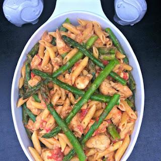 Chicken & Asparagus Penne in a Parmesan Cream Sauce