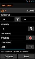 Screenshot of Welding Calc beta