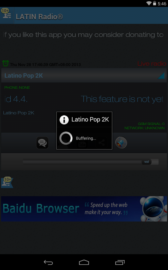 LATIN RADIO - screenshot