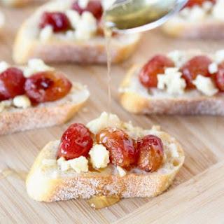 Roasted Grape, Blue Cheese, & Honey Crostini