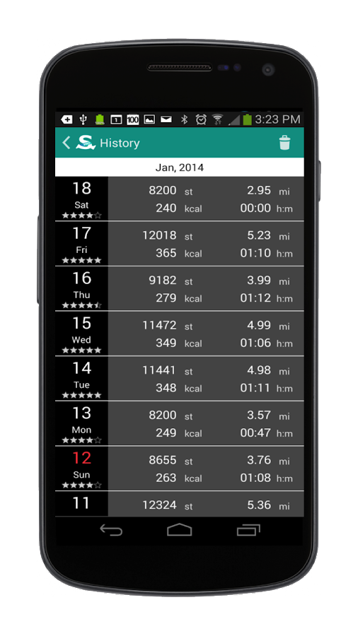StepOn Step Tracker Pedometer - screenshot