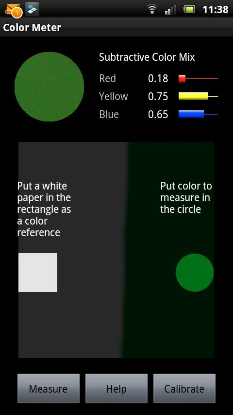 Paint Dye RYB Color Meter- screenshot