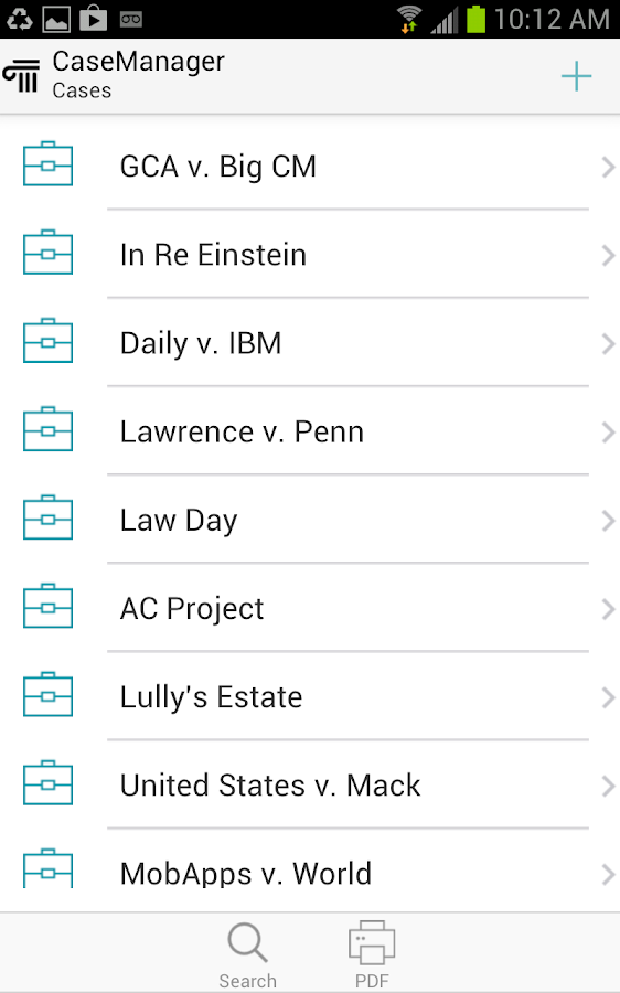 CaseManager for Android- screenshot