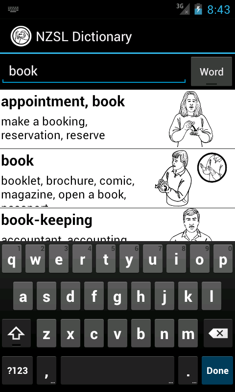 NZSL Dictionary - screenshot