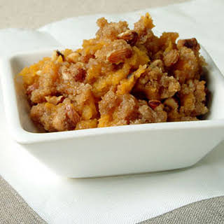 Whipped Sweet Potatoes with Hazelnut Topping.