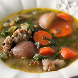 Spinach and Sausage Soup.