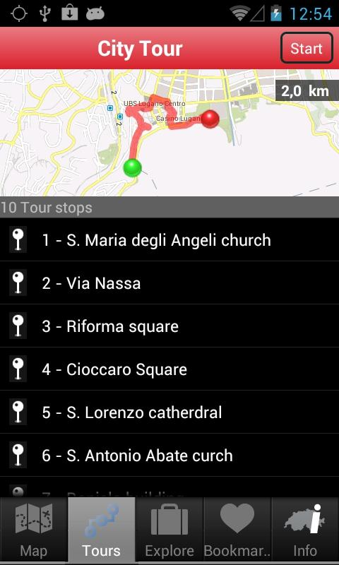 City Guide Lugano - screenshot