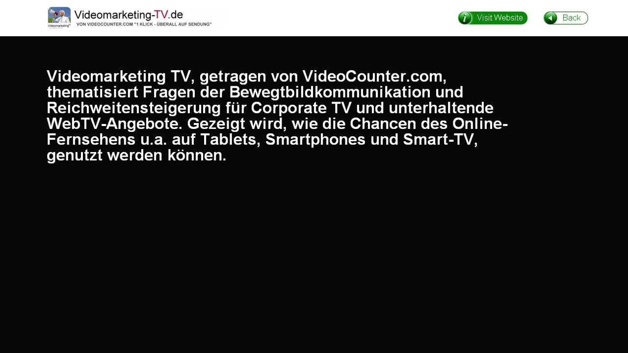 Videomarketing TV- screenshot