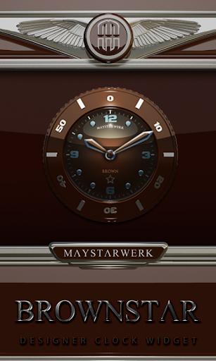 Clock Widget Brownstar