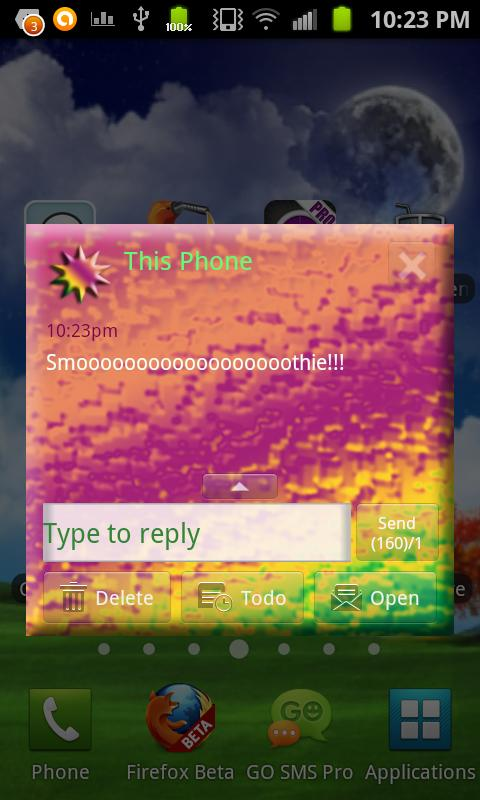 Neon Dream GO SMS Theme Don8 - screenshot