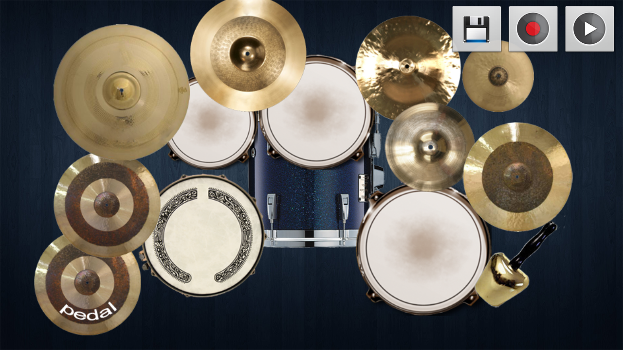 Drum Kit: a real drums - screenshot