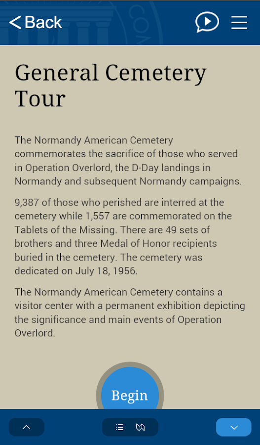 Normandy American Cemetery- screenshot