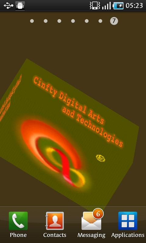 Cinfty 3D Demo Live Wallpaper - screenshot