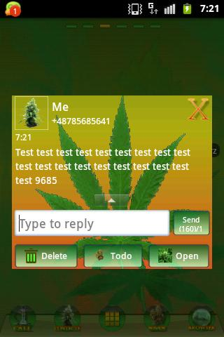 GO SMS PRO Theme Ganja Theme - screenshot