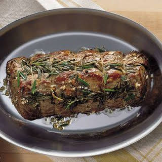 Pan-Roasted Beef Tenderloin with Rosemary and Garlic.