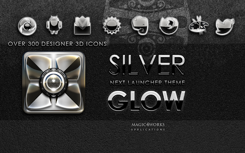 Next Launcher Theme Silver G