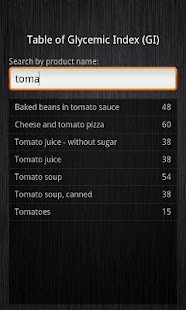 Glycemic Index - screenshot thumbnail