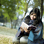 Himi by Arafat Chowdhury - People Portraits of Women ( himi book reading green yellow black hair railway engineering beautiful woman )