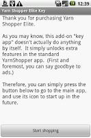 Screenshot of Yarn Shopper Elite Key